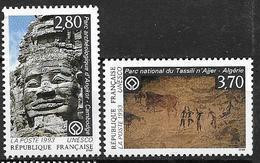 France 1993 Service N° 110/111 Neufs UNESCO 20% De La Cote - Nuovi