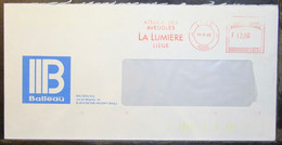 Belgium - Advertising Meter Franking Cover EMA 1985 Liege Balleau Energy Electricity - 1980-99