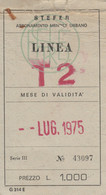 ABBONAMENTO 1975 STEFER ROMA Non Perfetto (BY2003 - Europe