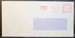 Belgium - Advertising Meter Franking Cover Lot (2) EMA 1984 Liege Menage & Jowa Insurance - 1980-99