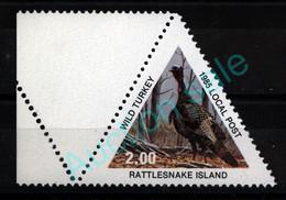 USA Rattlesnake Island Local Post 1985 **MNH Wild Turkey Dindon Sauvage Truthuhn - Gallinaceans & Pheasants