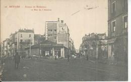 26 - BEZIERS - AVENUE DE BEDARIEUX ET RUE DE L'ABATTOIR   ( Animées ) - Beziers