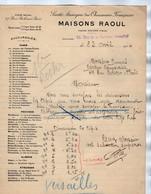 VP17.989 - Lettre - Société Anonyme Des Chaussures Françaises Maisons RAOUL à PARIS Succusale De VERSAILLE - 1900 – 1949