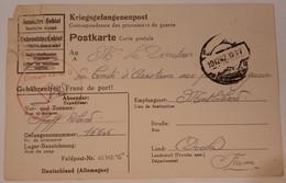 Carte De Prisonnier De Guerre Feldpost Nr 42165 1942 - 1939-45