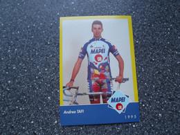 FUCECCHIO / ITALY: Cycliste Andrea Tafi - Mapei - GB - 1995 - Cycling