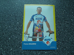 FLORENCE / ITALY: Cycliste Franco Ballerini - Mapei - GB - 1995 - Cycling