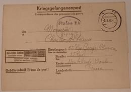Carte De Prisonnier De Guerre Stalag III A Luckenwalde - 1939-45