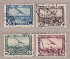 1930 PA1-PA4 Gestempeld (zonder Gom).Fokker F.VII.OBP 5,5 Euro. - Aéreo