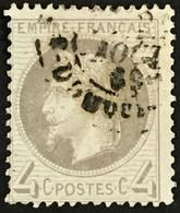 YT 27 (°) 1863-70 Napoléon III 4c Gris Léger Pli (90 Euros) – Fggy - 1863-1870 Napoleon III With Laurels
