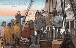 EAST CAPE SIBERIA RUSSIA~SIBERIAN ESKIMOS ON BOARD STEAMER CORWIN~ALASKA YUKO PACIFIC EXPO 1915 POSTCARD 51900 - Russia