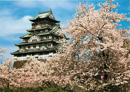 Japon - Osaka - The Osaka's Castle Surrounded By Cherry Trees In Full Bloom - Cerisiers En Fleurs - Carte Neuve - Nippon - Osaka