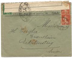 286 - 34 - Enveloppe Envoyée De Oran En Suisse 1916 - Censure - Prima Guerra Mondiale