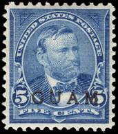 Guam 1899 5c Blue Lightly Hinged Mint, Slightly Dried Gum. - Guam