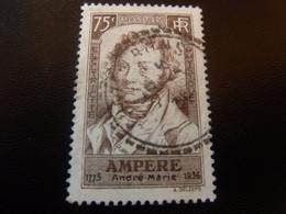 AMPERE André-Marie (1775-1836) Mathématicien - 75c. - Brun - Oblitéré - Année 1936 - - Usati