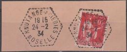 OBLITERATION KNUTANGE ACIERIES S/ Fragment - 1921-1960: Période Moderne