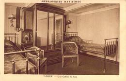 Paquebot LOTUS Des Messageries Maritimes Une Cabine De Luxe - Steamers