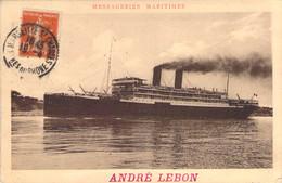 Paquebot André Lebon Des Messageries Maritimes - Steamers
