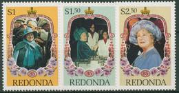 Antigua - Redonda 1985 Geburtstag Königinmutter Elisabeth 174/76 Postfrisch - Antigua Y Barbuda (1981-...)