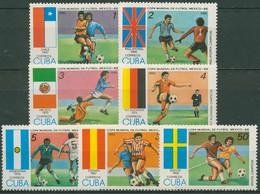 Kuba 1985 Fußball-WM'86 Mexiko 2911/17 Postfrisch - Neufs
