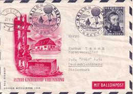 6307 - Österreich - Brief , Ballonpost , Weiz - Graz V. 1950 , Leer - - Balloon Covers