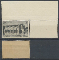D - [602677]TB//**/Mnh-France N° 611, 25F Gris Et Noir, Château De Chenonceaux, Pli De Gomme Naturel, Nuance Spéciale, A - Curiosités: 1941-44 Neufs
