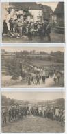 36 - Indre - Rare Lot De 3 Carte Photo - Eguzon - Concours De Peche - La Vandeze - Concurents , Pont Immergé Par Barrage - Non Classés