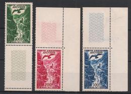 Andorre - 1955-57 - Poste Aérienne PA N°Yv. 2 à 4 - Série Complète Bord De Feuille - Neuf Luxe ** / MNH / Postfrisch - Poste Aérienne