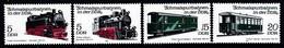 SERIE NEUVE D'ALLEMAGNE ORIENTALE - LES CHEMINS DE FER A VOIES ETROITES DE LA R.D.A. N° Y&T 2284 A 2287 - Trains