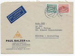 Berlin 1952-  Luftpost - Bedarfsbrief Nach München - Frankatur Berliner Bauten - Covers & Documents