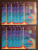 KOREA 1998 LAUNCH OF FIRST KOREAN ARTIFICIAL SATELLITE 10 BLOCKS PERFORED USED. - Sin Clasificación