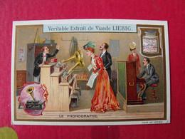 Image Chromo Liebig S 898. Les Grandes Inventions De XIX° Siècle. Le Phonographe. 1910 - Liebig