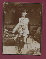 120221A - PHOTO - JEU JOUET ANCIEN Tricycle Enfant Trio - Giocattoli Antichi
