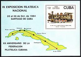 Cuba 1984 MNH Sc #2744 1p Train Engine - Neufs