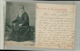 Turquie  Souvenir Constantinople - COSTUME D'INTERIEUR FEMME TURQUE 1898 ( Fevrier 2021 078) - Turquia