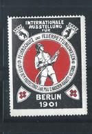 Sehr Alte Vignette - Berlin 1901 - Reklamemarke - Cinderella - Feuerwehr - Brandweer