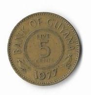 L-15  GUYANA=1977   5  CENTS - Guyana