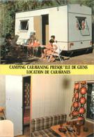 "/ CPSM FRANCE 83 ""Presqu'ile De Giens, Location De Caravanes"" / CAMPING - Andere Gemeenten"