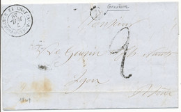BOUCHES DU RHONE LAC 1849 CHATEAU RENARD PROVENCE BOITE RURALE D = GRAVESON - 1849-1876: Classic Period