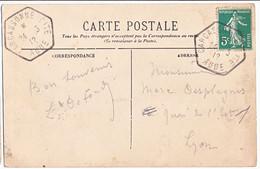 AUDE CP 1912 CARCASSONNE CITE ( HEXAGONAL ) AGENCE POSTALE A GERANCE GRATUITE BUREAU D INTERETS PRIVES - 1877-1920: Periodo Semi Moderno