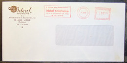 Belgium - Advertising Meter Franking Cover EMA 1980 Liege Ideal Tourism Holidays - 1980-99