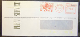 Belgium - Advertising Meter Franking Cover EMA 1980 Liege GIEP Publicity Agency Public Relations Dragon Armorial - 1980-99