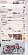 20 FICHES ILLUSTREES-  Photo  MOTO  - ITALIE - MM MILLER BALSAMO MALANCA MALAGUTI MAS MOTOM MOTOBI   MONDIAL MORINI - Autres