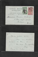 Belgian Congo. 1920 (24 Jan) Boma - Norway, Kristiania. 10c Orange Stat Card Card + Adtl. Better Destination From Norweg - Sin Clasificación