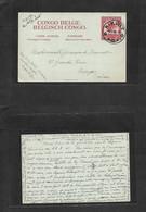 Belgian Congo. 1945 (30 Sept) Balaka, Kikwit - Switzerland, Morges (10 Nov) Extraord Origin 2fr Red Stat Card. XF Item. - Sin Clasificación