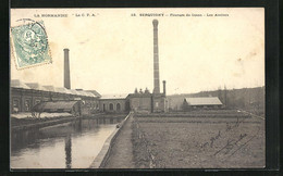 CPA Serquigny, Filature De Coton, Les Ateliers - Serquigny
