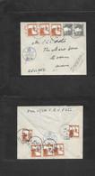 Palestine. 1939 (29 Dec) Jerusalem - England, Bosham, Sussex, Via Imperial Airways. Air Censored Multifkd Front + Revers - Palestina