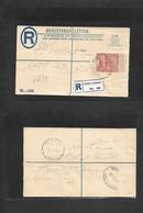 Sudan. 1955 (15 March) Port Sudan - Khartoun (16 March) Local Registered 4 1/2p Stationary Envelope + R-label. VF. - Sudan (1954-...)