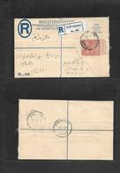 Sudan. 1955 (29 March) Wad Medani - Khartoun (30 March) Local Registered 4 1/2 P Stat Envelope + R-label. VF. - Sudan (1954-...)