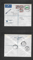 Sudan. 1956 (5 Jan) Khartoun - Germany, Nuremberg (8 Jan) Registered Air Multifkd Env. VF. - Sudan (1954-...)