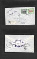 Sudan. 1959 (7 May) Port Sudan - Italy, Livorno (9 May) Registered Air Multifkd Env. Fine Usage. - Sudan (1954-...)